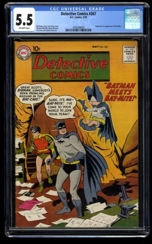Detective Comics #267 CGC FN- 5.5 Off White 1st Bat-Mite!