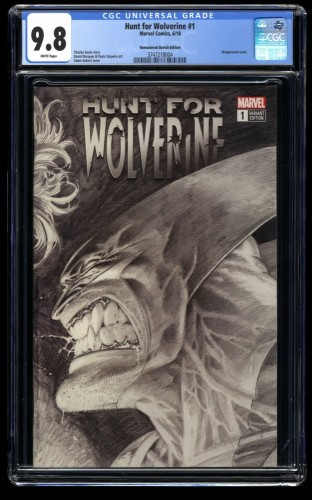 Hunt for Wolverine #1 CGC NM/M 9.8 Remastered Sketch Variant Cover 1:000!