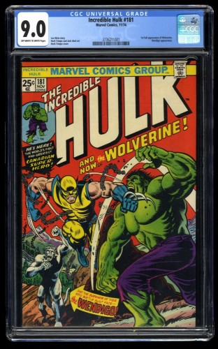 Incredible Hulk #181 CGC VF/NM 9.0 Off White to White