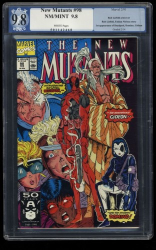 New Mutants #98 PGX NM/M 9.8 White Pages 1st Deadpool!