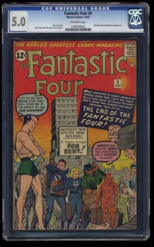 Fantastic Four #9 CGC VG/FN 5.0 Off White Marvel Comics