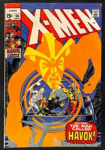 X-Men #58 GD/VG 3.0 1st Havok! Marvel Comics