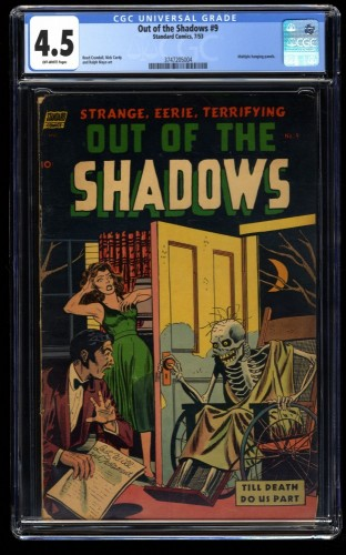 Out of the Shadows #9 CGC VG+ 4.5 Off White Pre Code Horror!