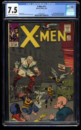 X-Men #11 CGC VF- 7.5 Off White to White 1st Stranger! Marvel Comics