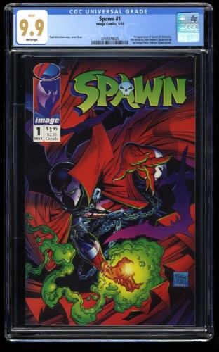 Spawn #1 CGC Mint 9.9 White Pages McFarlane!