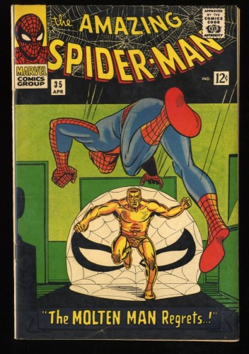 Amazing Spider-Man #35 VG+ 4.5 Meteor Man! Marvel Comics Spiderman