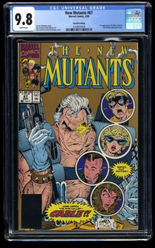 New Mutants #87 CGC NM/M 9.8 White Pages 1st Cable! Second (2nd) Print!