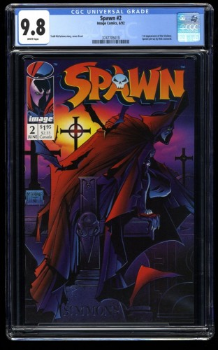 Spawn #2 CGC NM/M 9.8 White Pages 1st Violator!