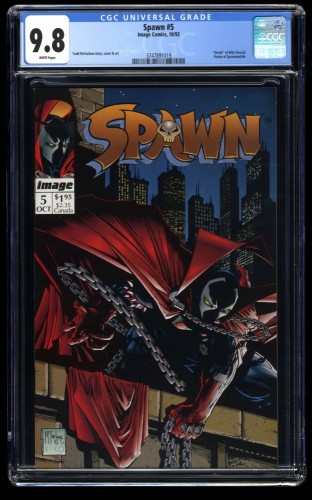 Spawn #5 CGC NM/M 9.8 White Pages