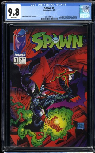 Spawn #1 CGC NM/M 9.8 White Pages McFarlane!