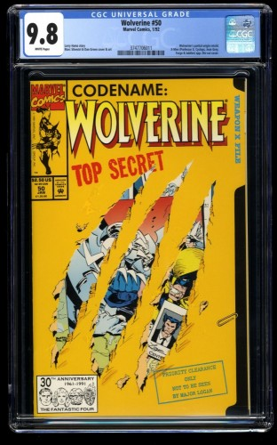Wolverine #50 CGC NM/M 9.8 White Pages