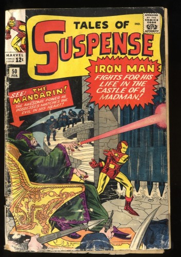 Tales Of Suspense #50 FA/GD 1.5 1st Mandarin! Iron Man