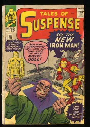 Tales Of Suspense #48 GD+ 2.5 1st Gold Armor! Iron Man