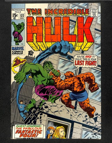Incredible Hulk (1968) #122 VG 4.0 Hulk Thing Battle! Marvel Comics