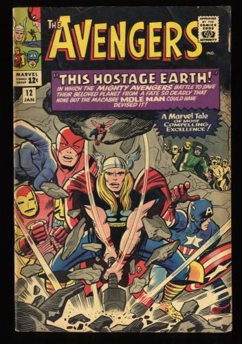 Avengers #12 VG+ 4.5 Marvel Comics Thor Captain America