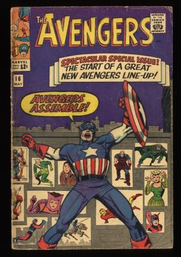 Avengers #16 GD 2.0 New Lineup! Marvel Comics Thor Captain America