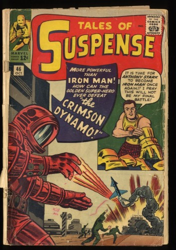 Tales Of Suspense #46 FA/GD 1.5 1st Crimson Dynamo! Iron Man