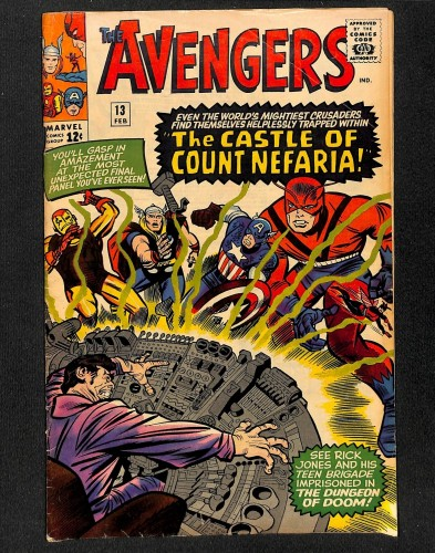Avengers #13 VG 4.0 1st Count Nefaria! Marvel Comics Thor Captain America