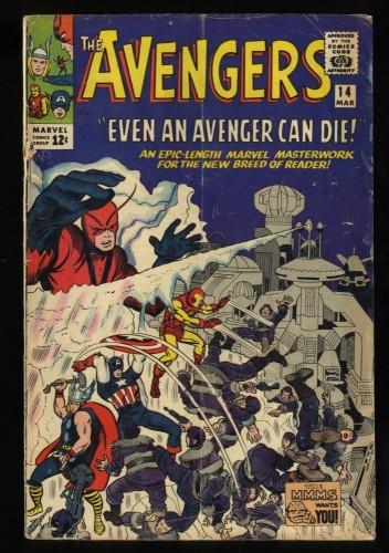 Avengers #14 GD/VG 3.0 Marvel Comics Thor Captain America