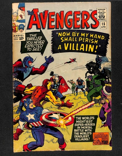 Avengers #15 VG 4.0 Marvel Comics Thor Captain America
