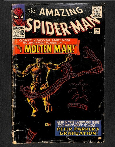Amazing Spider-Man #28 FA/GD 1.5 1st Molten Man! Marvel Comics Spiderman