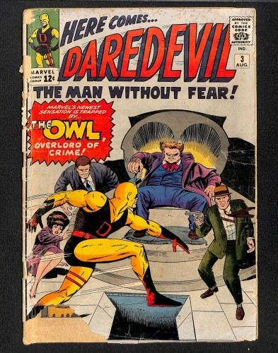 Daredevil #3 Fair 1.0 1st Owl! Marvel Comics