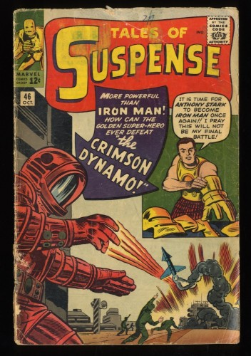Tales Of Suspense #46 GD 2.0 1st Crimson Dynamo! Iron Man