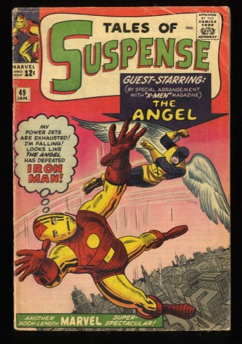 Tales Of Suspense #49 GD/VG 3.0 1st X-Men Crossover! Iron Man