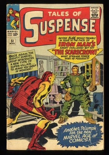 Tales Of Suspense #51 GD/VG 3.0 1st Scarecrow! Iron Man