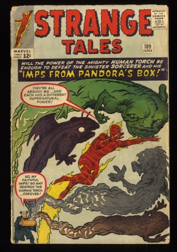 Strange Tales #109 GD/VG 3.0 Marvel Comics Nick Fury Doctor Strange Torch