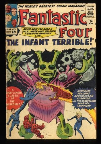 Fantastic Four #24 VG- 3.5 Marvel Comics