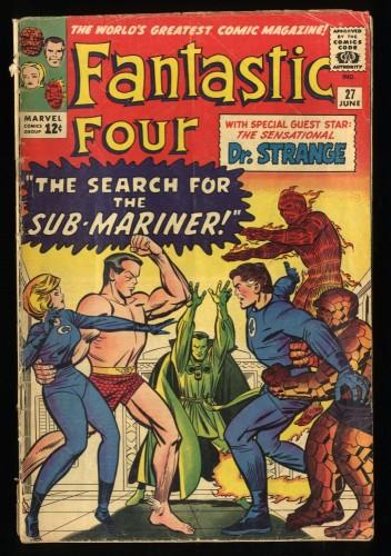 Fantastic Four #27 GD+ 2.5 Sub-Mariner Doctor Strange! Marvel Comics
