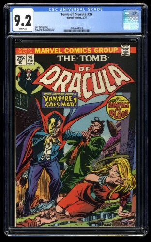 Tomb of Dracula #29 CGC NM- 9.2 White Pages Marvel Comics