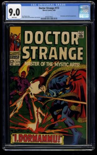Doctor Strange #172 CGC VF/NM 9.0 White Pages Dr. Marvel