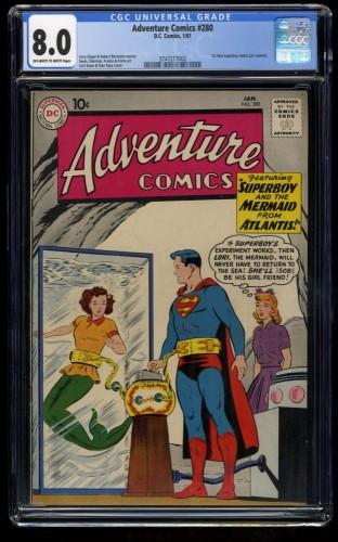 Adventure Comics #280 CGC VF 8.0 Off White to White DC Superman