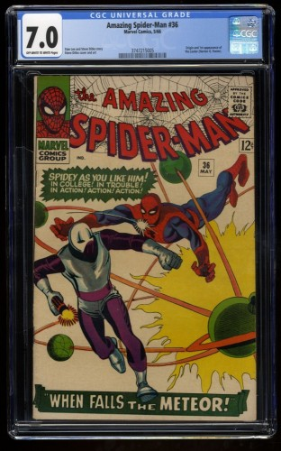 Amazing Spider-Man #36 CGC FN/VF 7.0 Off White to White 1st Looter!