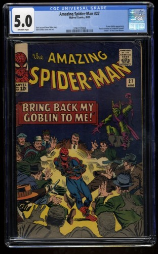 Amazing Spider-Man #27 CGC VG/FN 5.0 Off White Green Goblin!