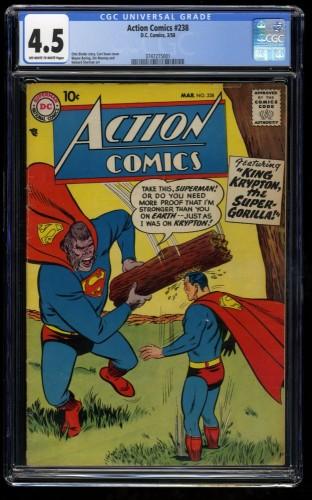 Action Comics #238 CGC VG+ 4.5 Off White to White DC Superman