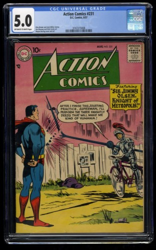 Action Comics #231 CGC VG/FN 5.0 Off White to White Jimmy Olsen! DC Superman