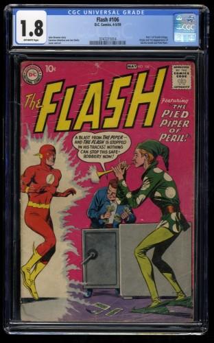 Flash #106 CGC GD- 1.8 Off White 1st Gorilla Grodd! DC Comics