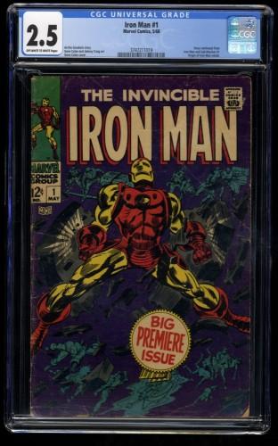 Iron Man #1 CGC GD+ 2.5 Off White to White Marvel Comics