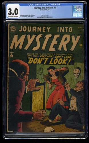 Journey Into Mystery #2 CGC GD/VG 3.0 Cream To Off White Marvel Comics Thor