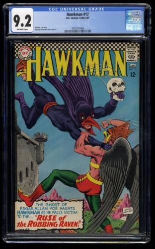 Hawkman #17 CGC NM- 9.2 Off White DC Comics