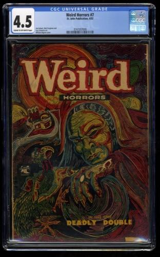 Weird Horrors #7 CGC VG+ 4.5 Cream To Off White
