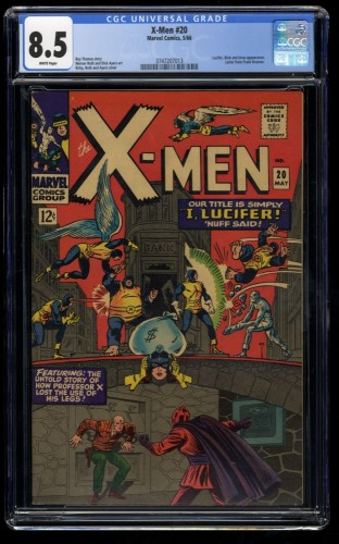 X-Men #20 CGC VF+ 8.5 White Pages Marvel Comics