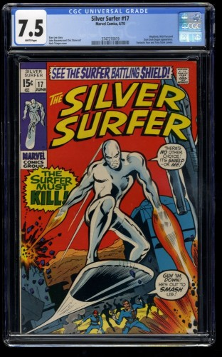 Silver Surfer #17 CGC VF- 7.5 White Pages Marvel Comics