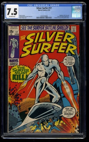 Silver Surfer #17 CGC VF- 7.5 Off White Marvel Comics