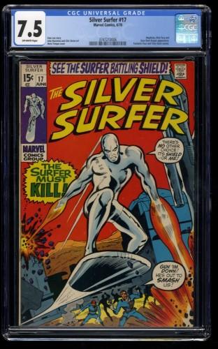 Silver Surfer #17 CGC VF- 7.5 Off White Marvel Comics