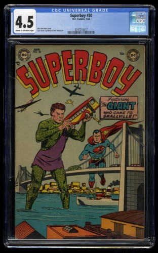Superboy #30 CGC VG+ 4.5 Cream To Off White