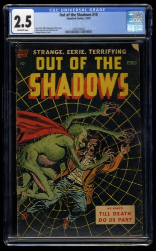 Out of the Shadows #10 CGC GD+ 2.5 Off White